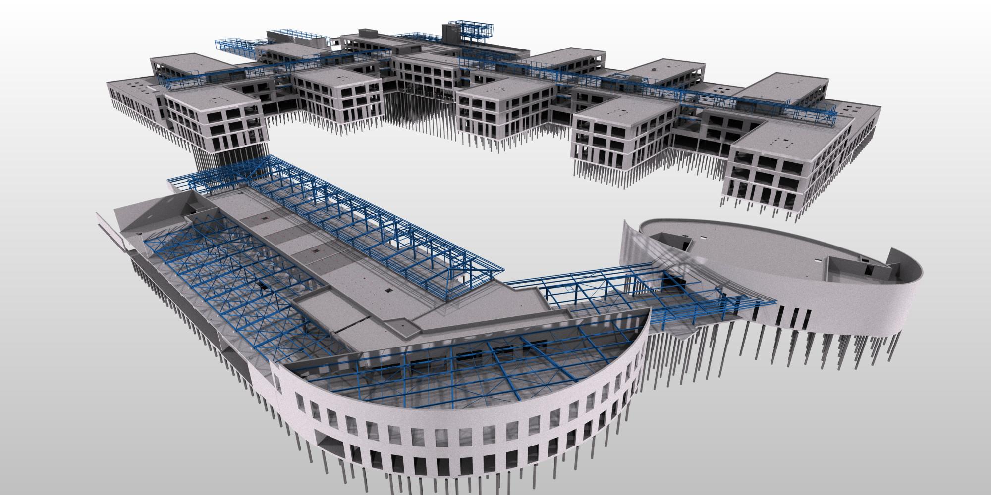 La maquette numérique, en fait un ensemble de maquettes, renseignée en temps réel par les partenaires du projet, un objectif pour le secteur du bâtiment en France. DOC GA